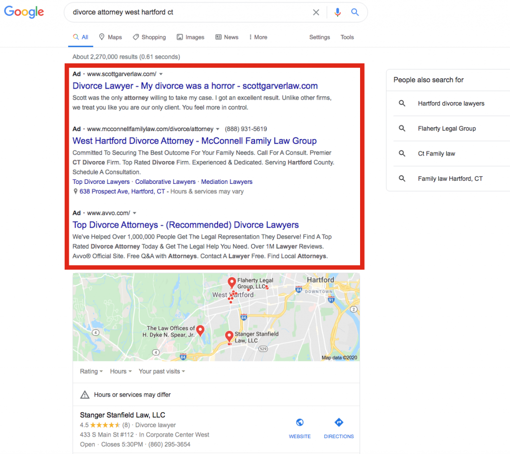 Examples of local search results